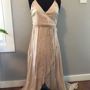Sage faux wrap dress. Small.